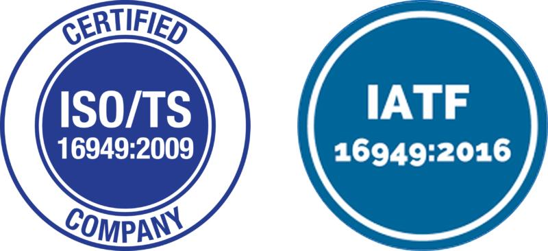 Logo ISO/TS 16949:2009 & Logo IATF 16949:2016